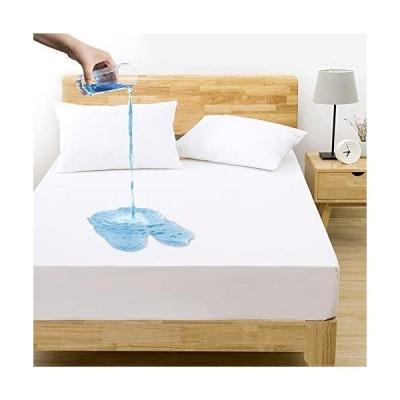 ボックスシーツ ベッドシーツ マットレスカバー 防水 マットレス ベッド カバー 速乾性 ソフト 抗ダニ 消臭性 通気性 360°ゴム仕様