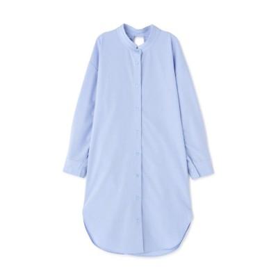 【ローズバッド】 ロングシャツ レディース ブルー - ROSE BUD