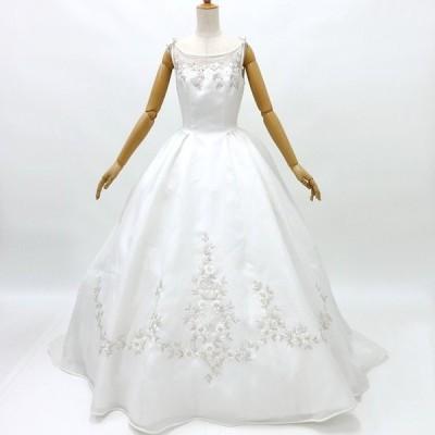 ウェディングドレス3501 プリンセスライン7号 グローブ付き レンタル処分品 貸衣装 中古 リサイクル フォトウエディング 記念撮影