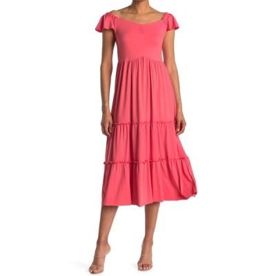 ベルベットトーチ レディース ワンピース トップス Maxi Tiered Dress NEW ORANGE