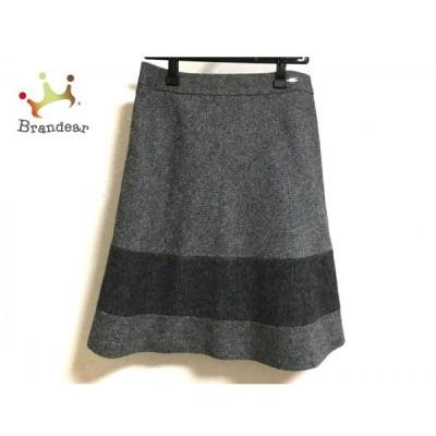 ダックス DAKS スカート サイズ40 L レディース 美品 黒×グレー 新着 20200511