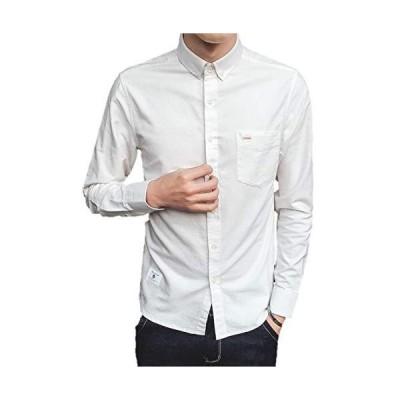 メンズ カジュアル シャツ 長袖 ワイシャツ シンプル ジャケット yシャツ 無地 トップス ベーシック 春 夏 秋 冬