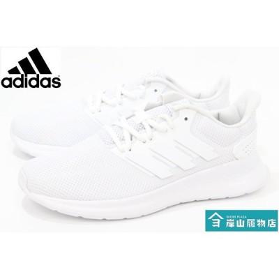 白靴 通学靴 アディダス スニーカー adidas FALCONRUN W F36215 WHITE