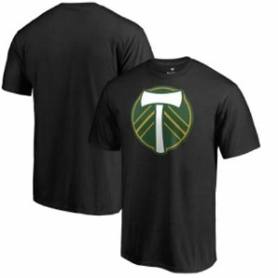 Fanatics Branded ファナティクス ブランド スポーツ用品  Fanatics Branded Portland Timbers Black Big & Tall Primary Logo T-Shirt