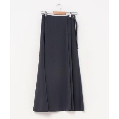 スカート ラップフレアスカート