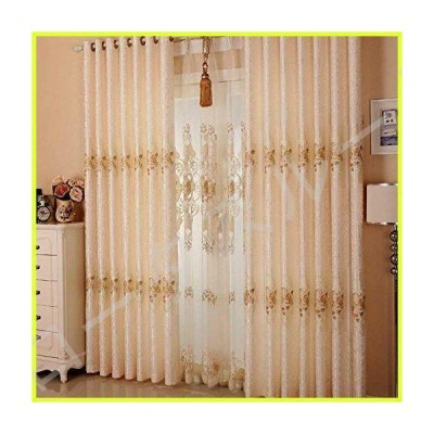 NDFSE Jacquard Curtains with Eyelet,Sheer Curtain,Blackout Thermal Curtains, Embroidered Drapes Curtain,Room Darkening Pencil Pleat Curtains