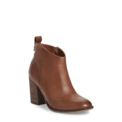 ビーピー レディース ブーツ&レインブーツ シューズ Lance Leather Block Heel Bootie- Wide Wdith Available COGNAC OILED LEATHER