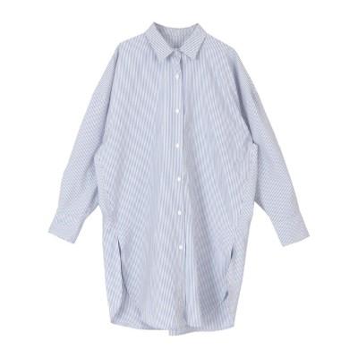 ユアーズ ur's チュニックシャツ (ストライプ/ブルー)