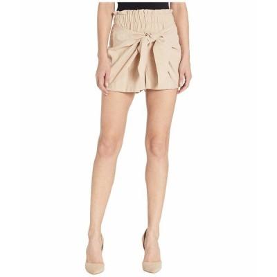 BCBジェネレーション ハーフ&ショーツ ボトムス レディース Knot Front Paperbag Waist Shorts - UIR7205946 Taupe