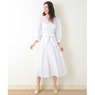 (Tara Jarmon/タラジャーモン)レースドレス【洗える】/レディース ホワイト