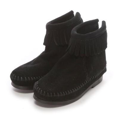 【Kid's】ミネトンカ MINNE TONKA BACK ZIPPER BOOT(Black)