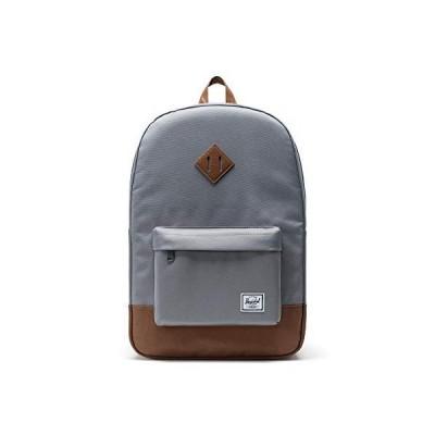 【並行輸入品】Herschel Heritage Backpack, Grey/Tan Synthetic Leather, Classic 21.5L