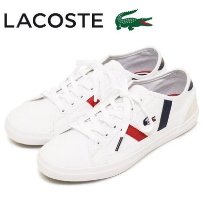 LACOSTE (ラコステ) CFA046M SIDELINE TRI 2 レディーススニーカー 407-WHT/NVY/RED LC198