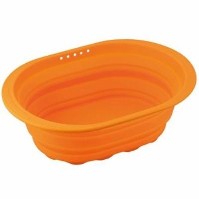 和平フレイズ スキッとシリコーン洗い桶(オレンジ) SR-4883 オレンジ