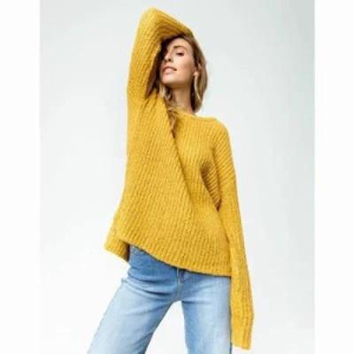 リップカール ニット・セーター Ana s Sweater Mustard