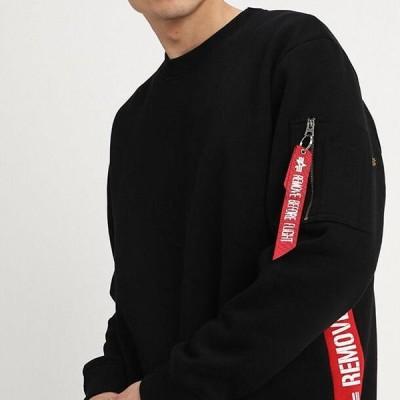 アルファインダストリーズ メンズ ファッション INLAY TAPE - Sweatshirt - black