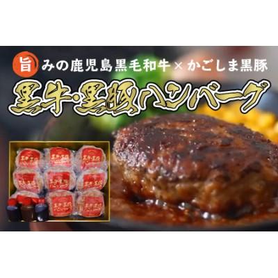 084-05 鹿児島県産黒牛×黒豚ハンバーグ9個