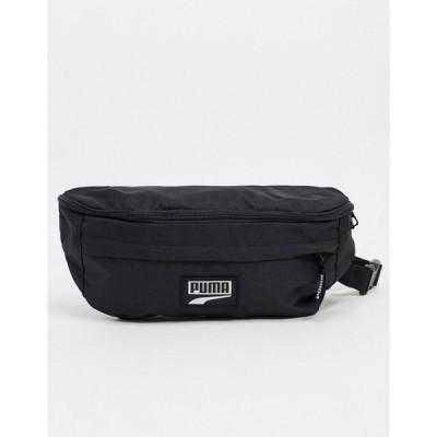 プーマ Puma メンズ ボディバッグ・ウエストポーチ バッグ Deck XL large waist bag in black ブラック