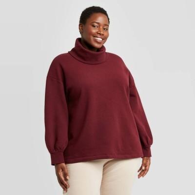 アヴァ&ヴィヴィ Ava & Viv レディース チュニック 大きいサイズ トップス Plus Size Leisure Tunic Sweatshirt - Red