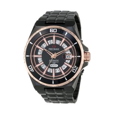 Precimax Men's PX13215 Stark Automatic Black Dial Black Stainless-Steel Band Watch 並行輸入品