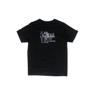 Boards Of Canada Music Has The Right To Children white outline Tシャツ(ブラック)/Mサイズ Apparel