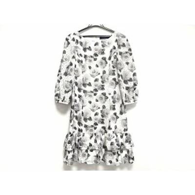 エムズグレイシー M'S GRACY ワンピース レディース 白×黒×グレー 花柄【中古】20201027