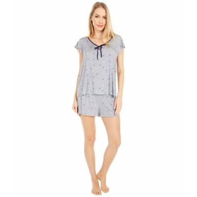 ケイト スペード ナイトウェア アンダーウェア レディース Modal Spandex Jersey Short Pajama Set Grey Dot Space