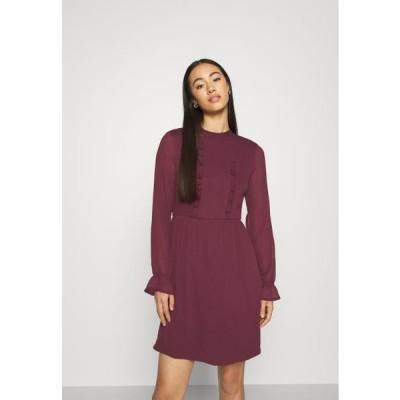 ヴェロモーダ レディース ドレス VMMOLLIE FRILL SHORT DRESS - Day dress - fig