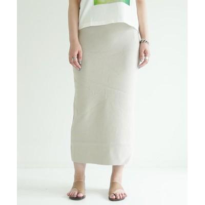 スカート ネルコットン Iラインロングスカート