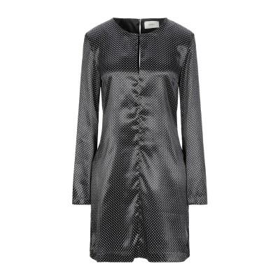 VICOLO ミニワンピース&ドレス ブラック M レーヨン 60% / アセテート 40% / ポリエステル ミニワンピース&ドレス