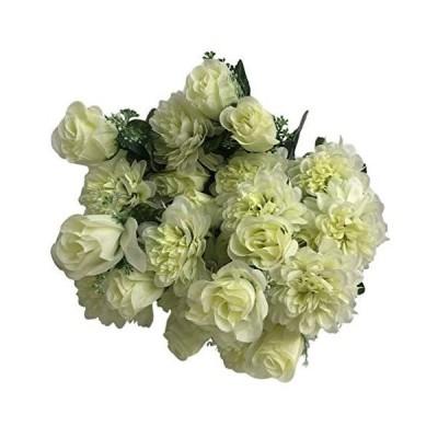 造花 白系花束 2束セット Lサイズ 全長約58?1本あたり1200円(税込)アートフラワー花束 おしゃれ インテリア ナチュラル ウェディ