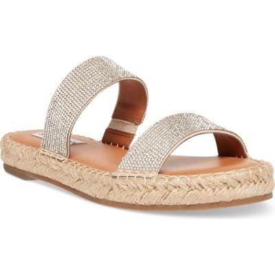 スティーブ マデン Steve Madden レディース サンダル・ミュール ラインストーン シューズ・靴 Celeste Rhinestone Slide Sandals Crystal Rhinestone