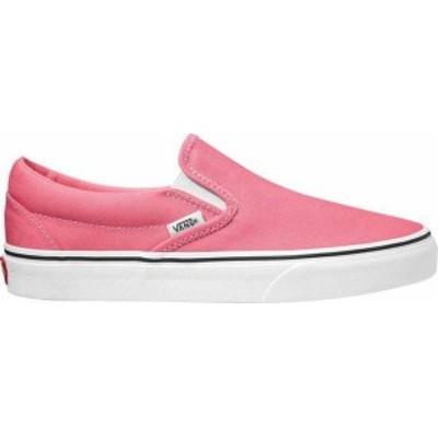 バンズ レディース スニーカー シューズ Vans Classic Slip-On Shoes Pink Lemonade/White