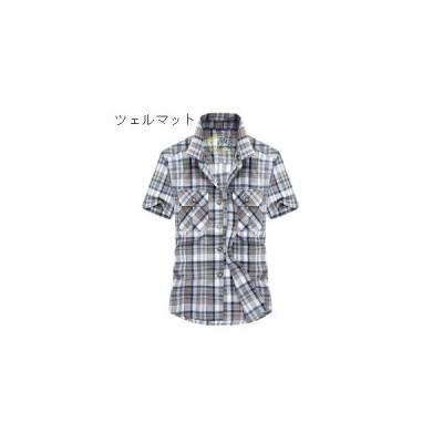 Tシャツ  カットソー  半袖シャツ メンズ チェックシャツ