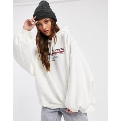 クチュールクラブ パーカー スウェット レディース The Couture Club world tour hoodie in cream エイソス ASOS