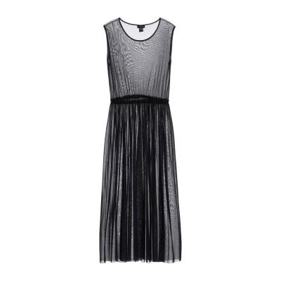 アヴァントワ AVANT TOI 7分丈ワンピース・ドレス ダークブルー S ナイロン 100% 7分丈ワンピース・ドレス