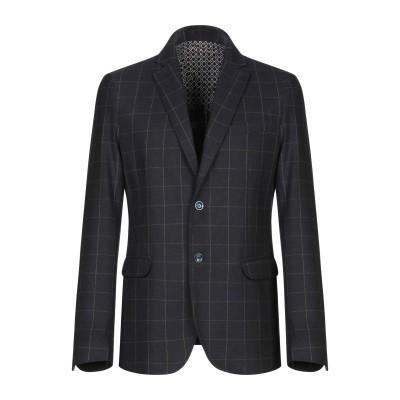 ANTONIONI Milano テーラードジャケット ダークブルー 48 ポリエステル 40% / レーヨン 40% / ウール 20% テーラー