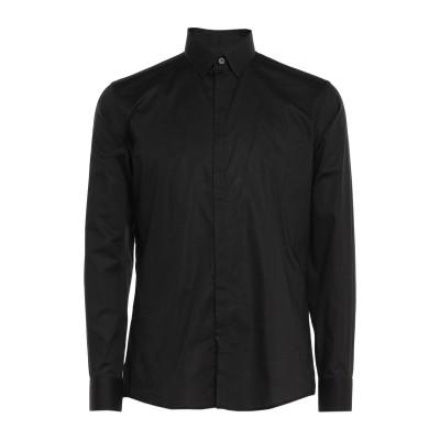 グレイ ダニエレ アレッサンドリーニ GREY DANIELE ALESSANDRINI シャツ ブラック 38 コットン 97% / ポリウレタン