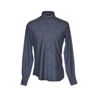XACUS シャツ ブルー 43 コットン 55% / ウール 45% シャツ