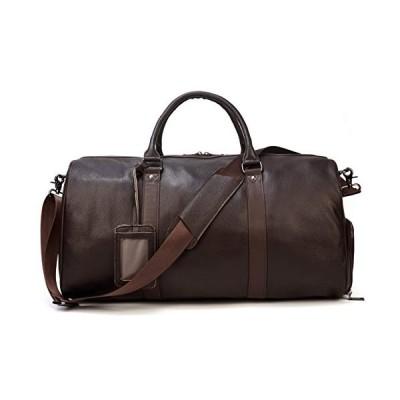 ボストンバッグ 本革 メンズ 大容量 靴入れ付き レザー トラベルバッグ 底鋲付き 旅行バッグ ワイン-55cm