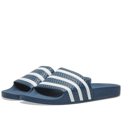 アディダス Adidas メンズ サンダル シューズ・靴 Adilette Navy/White