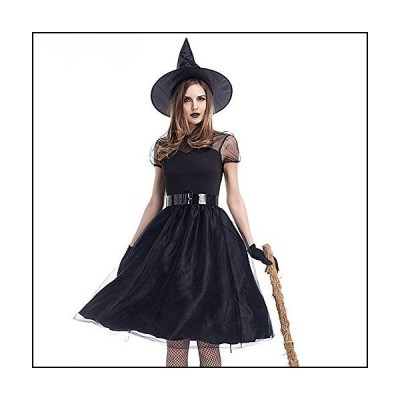 Ghazzi Halloween 4PC Women Halloween Costume Cosplay Ball Party Dress Hat Belt Gloves Suit
