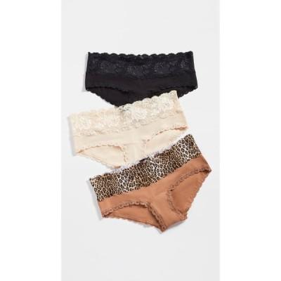 コサベラ Cosabella レディース ショーツのみ 3点セット マタニティウェア インナー・下着 Maternity Hotpants 3 Pack Black Blush Leopard