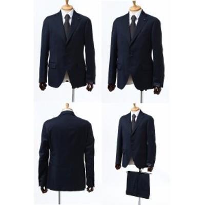 ラルディーニ LARDINI スーツ シングル サイドベンツ ノッチドラペル 3つボタン 0801AV IMRP55486 830 ネイビー メンズ (IM0801AV P55486