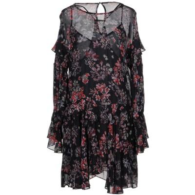 イロ IRO ミニワンピース&ドレス ブラック 38 レーヨン 100% ミニワンピース&ドレス