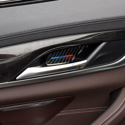 BMW G38/G30/528i/530i/540i 炭素繊維 車内装飾 カーボン シドア ハンドル ボウル ステッカー 色付き