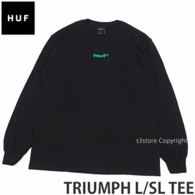 ハフ TRIUMPH L/SL TEE カラー:BLACK
