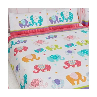 Patchwork Elephant UK Double/US Full Duvet Cover and Pillowcase Set