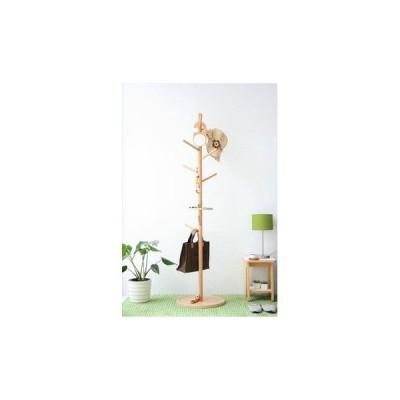 【KOEDA/コエダ】 ポールハンガー 北欧 ナチュラル 木製 おしゃれ 洋服掛け 帽子掛け かばん掛け カバン掛け コートハンガー