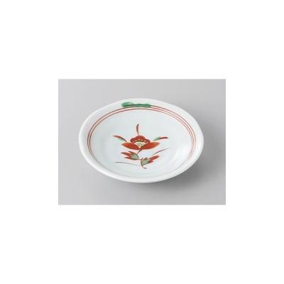 小皿 丸皿 赤絵花3.0皿 豆皿 9.7cm おしゃれ 和食器 業務用 美濃焼 9a272-17-33g
